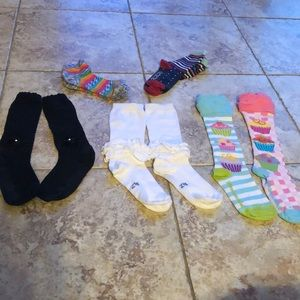 Lot of socks! Too cute not to share. Girls 7-8